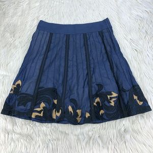 Floreat Embroidered A-line Skirt